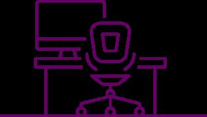 icône Bureaux, anciens ou modernes des PME, ETI et grandes entreprises