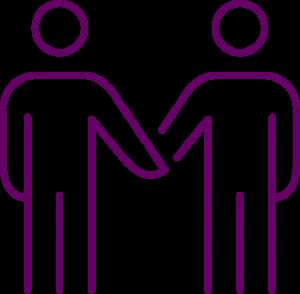 icône d'agents dédiés pour le nettoyage de commerces
