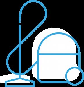 icône pour le nettoyage approfondi des bureaux