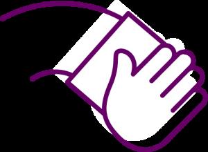 icône pour le nettoyage récurrent des bureaux