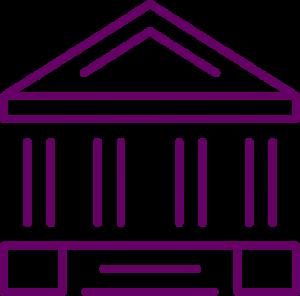 icône pour les bureaux des réseaux d'agences de la banque et des services