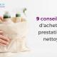 sac cotn avec produits de nettoyage